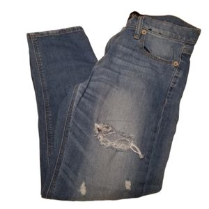 Express Size 4 Girlfriend Destroyed Skinny Jeans